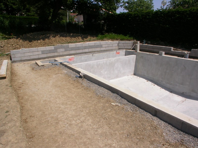 Favori Construction de la piscine VY25